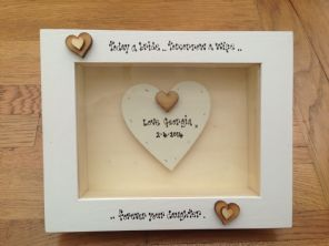 Shabby Personalised Chic Box Frame Gift Mother Of The Bride Mum Wedding Present